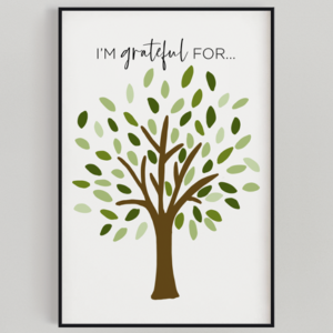 Oversized Thankful Tree Print