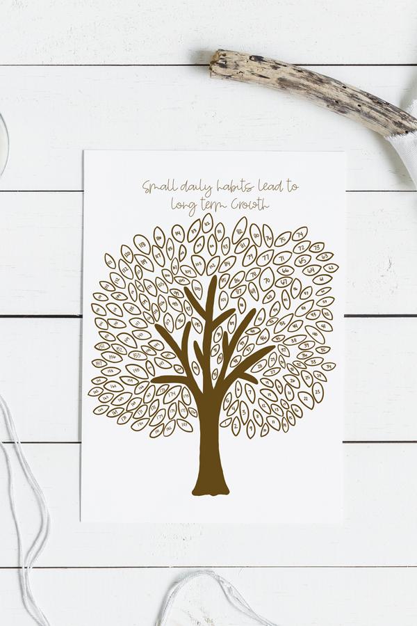 6-Month Tree Habit Tracker