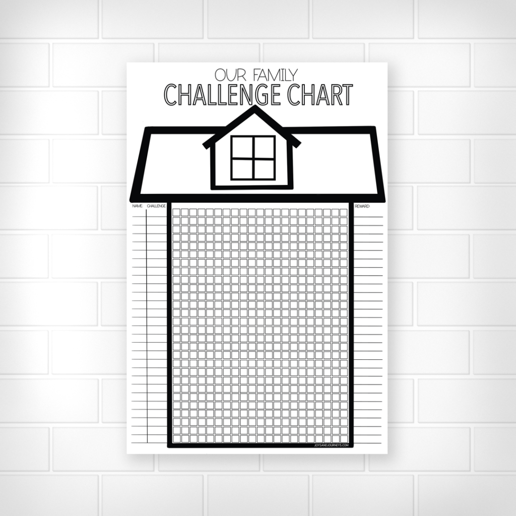 Family Challenge Chart or Chore Chart